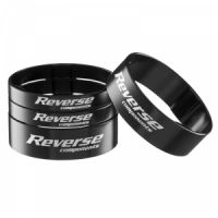 "Reverse Spacer Set Alloy Ultra-Light 11/8"" Black"