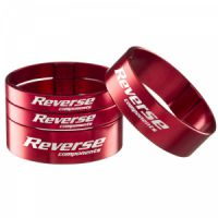 "Reverse Spacer Set Alloy Ultra-Light 11/8"" Red"
