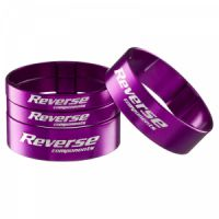 "Reverse Spacer Set Alloy Ultra-Light 11/8"" Purple"
