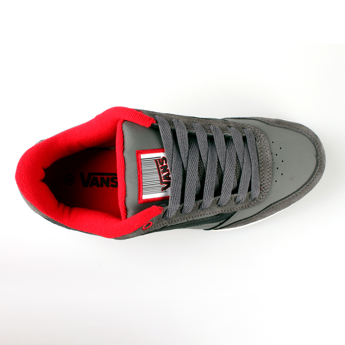 831577461a Vans Wylie shoes pewter black red US 9